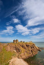 Dunnottar castle aberdeenshire scotland is a spectacular ruined medieval cliff top fortress dating to the fourteenth century and Royalty Free Stock Photography