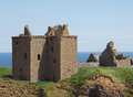Dunnottar castle fortress scotland medieval ruins of stonehaven near aberdeen in ruins of medieval on a rocky headland towering Royalty Free Stock Photos