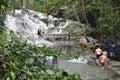 Dunns River Falls in Ocho Rios, Jamaica Royalty Free Stock Photo
