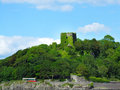 Dunollie castle near oban scotland a view from a bout Stock Photo