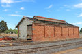 DUNOLLY, VICTORIA, AUSTRALIA - February 21, 2016: The disused goods shed at Dunolly railway station