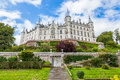 Dunrobin castle scottish highlands daylight view of Stock Photo
