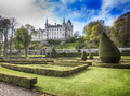 Dunrobin castle is a stately home in sutherland in the highland area of scotland the monumental dunrobin castle at the southeast Royalty Free Stock Images