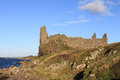 Dunure Castle, Dunure, Ayrshire, Scotland. Royalty Free Stock Photography