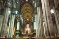 Duomo cathedral milan inside view of in one the best gothic church in the world Stock Image