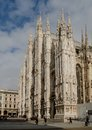 Duomo corner view milan from Royalty Free Stock Images
