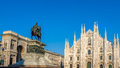 Duomo di Milano , the cathedral church of Milan, Lombardy, North Royalty Free Stock Photo