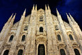 Duomo di Milano Cathedral, in Milan, Italy Royalty Free Stock Photography