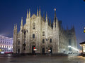 Duomo di milano night view of Stock Photos