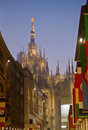 Duomo di Milano rear view Royalty Free Stock Photo
