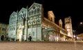 Duomo of Ferrara at night, unesco world heritage Royalty Free Stock Photo