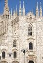 Duomo italy milan Royaltyfri Fotografi