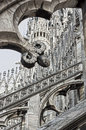 Duomo in milan detail of on a summer day Stock Photo