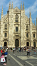 Duomo of milan details from in italy Stock Image