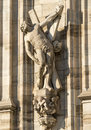 Duomo of Milan, statues Royalty Free Stock Images