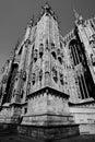 Duomo milan sud east facade Stock Photos