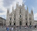 Duomo in milan on a summer day Royalty Free Stock Photo