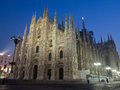 Duomo night view of di milano Stock Photography