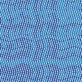 Duotone, 2-color geometric pattern of dense wavy lattice, grid. Interweaved, interlocking lineal, linear mesh pattern. Texture of
