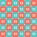 Duotone hearts seamless pattern vector illustration Royalty Free Stock Image