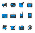 Duotone Icons - More Communication Stock Image