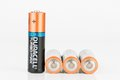 Duracell Turbo Max alkaline AA battery.