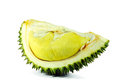 Durain ready to eat durian isolate on white background Royalty Free Stock Photography