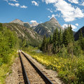 Durango and Silverton Narrow Gauge Railroad Tracks Stock Image