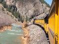 Durango to Silverton narrow gauge railroad Royalty Free Stock Photo