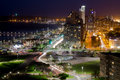Durban city night s center at Stock Image