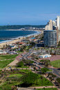 Durban coastline the coast on a sunny day Stock Photography