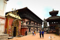 Durbar square of bhaktapur to o clock in the morning every day morning when the is the most lively bustling locals here to Stock Photography