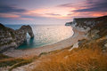 Durdle door in dorset uk on jurassic coast Stock Photos