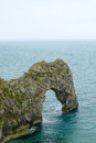 Durdle door sea arch dorset limestone erosion on the jurassic coast a unesco world heritage site Royalty Free Stock Photo