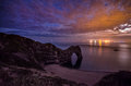 Durdle Door after sunset Royalty Free Stock Photo
