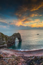 Durdle dor a rock arch off the jurassic coast dorset england Stock Photography