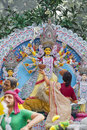 Durga Idol - Durga puja Navratri, New Delhi, India Royalty Free Stock Photo