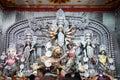 Durga idol at Puja Pandal, Durga Puja festival Royalty Free Stock Photo
