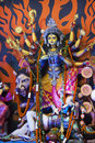 Durga puja idol of goddess durga an indian deity worship is a yearly event and these deities are created every year and immersed Royalty Free Stock Images
