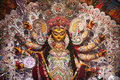 Durga puja idol of goddess durga an indian deity worship is a yearly event and these deities are created every year and immersed Stock Image