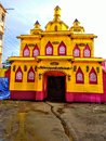 Durga Puja pandal decoration theme in Assam india Royalty Free Stock Photo