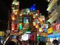 Durga puja pandal made of books Royalty Free Stock Photo