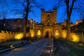 Durham castle gate entrance is the ancient palace of the prince bishops of and lies at the northern end of palace green opposite Royalty Free Stock Photos