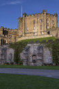 Durham castle keep seen from the courtyard Royalty Free Stock Photo