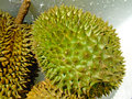 Durian big fruit at market Royalty Free Stock Photography