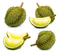 Durian fruit isolated on a white background durain king fruit of Thailand Royalty Free Stock Photo