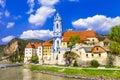 Durnstein lower austria wachau valley near vienna pictoial Stock Photo