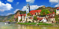 Durnstein wachau valley near vienna lower austria pictoial Stock Image