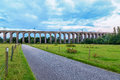 Dusk at digswell viaduct in the uk welwyn located between welwyn garden city and Stock Photography