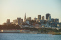 Dusk at downtown in San Francisco Royalty Free Stock Photo